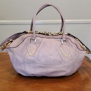 OrYany taupe whipstich leather bag